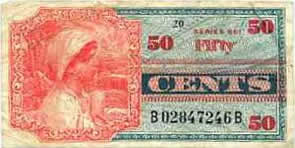 50 Cent Military Payment Certificate