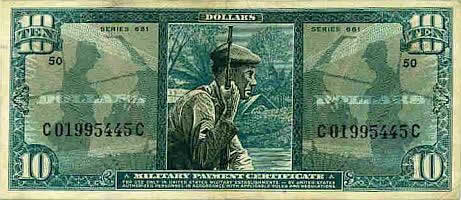 10 Dollar Military Payment Certificate