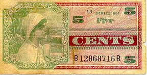 5 Cent Military Payment Certificate